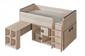 Łóżko piętrowe Gumi z  materacem bonelowym