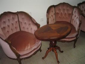 fotele berżera i sofa dwojka