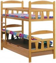 Łóżko piętrowe z pojemnikiem na pościel