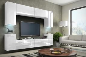 Nowoczesna meblościanka Concept 1 biały połysk