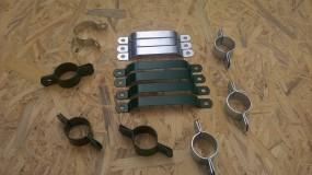 Akcesoria do montażu siatki ogrodzeniowej Obejmy, napinacze, przelotki, nasadki...