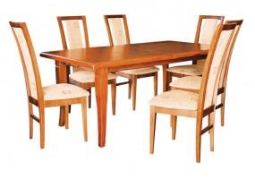 Drewniany zestaw stołowy