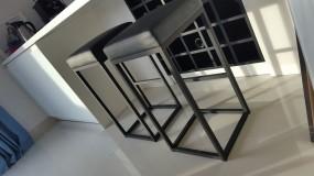 Metalowe krzesło barowe loft industrial vintage