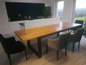 Rozkładany stół debowy loft Marco
