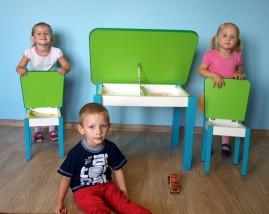 Komplet mebli dla dzieci otwierany stolik i krzesełka