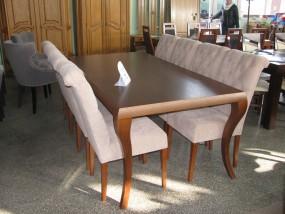 stól rozkładany ; krzesła pikowane, tapicerowane 2m + (2x x50cm) x 100cm