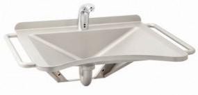 Umywalka dla osób niepełnosprawnych AUM 018 INV ze stali nierdzewnej