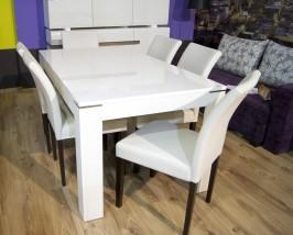 Stół rozkładany XELT16 Z38 - Biały połysk - OD RĘKI !