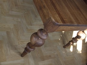 Stół eklektyczny dębowy, vintage, cottage