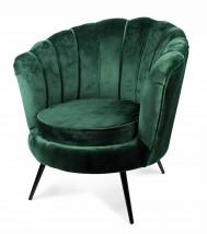 Cudowny fotel muszla kolor zielony 9866