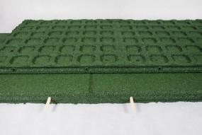 Płyta gumowa plac zabaw 100x50x4cm zielona