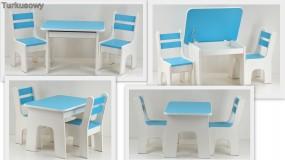 Otwierany stolik i krzesełka z szufladą K2